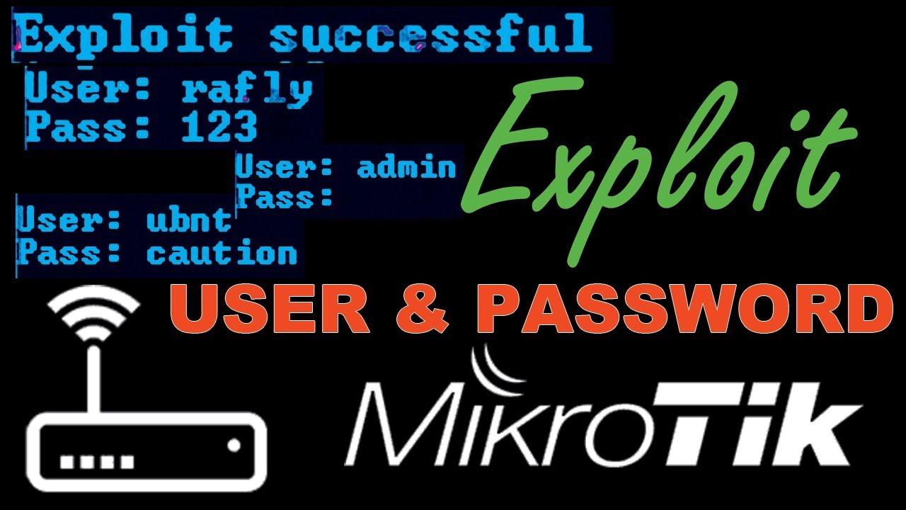 Mikrotik! Exploit User & Password Winbox