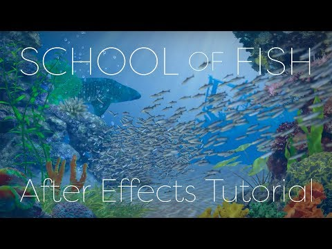 School of Fish - After Effects Tutorial - YouTube