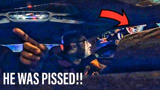 ANGRY COP STARTS TAPPING ON LAMBORGHINI...