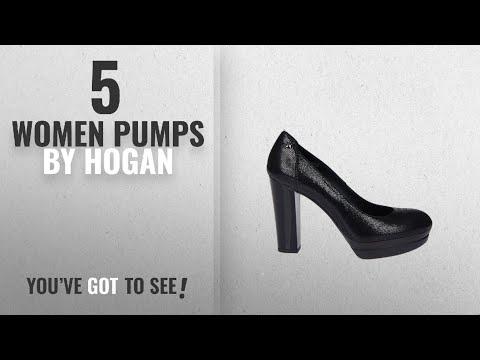 Top 5 Hogan Women Pumps [2018]: HOGAN Women's Hxw3130z050ff8b999 Black Leather Pumps
