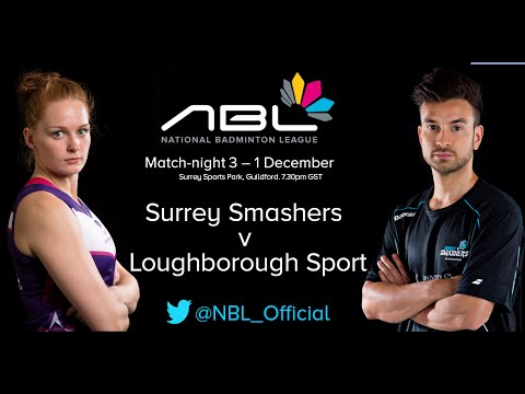 (1 of 2) NBL 2014/15 Match-night 3 - Surrey Smashers v Loughborough Sport