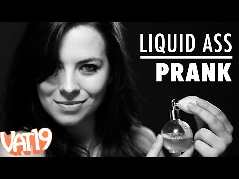 Models Spray Themselves with Liquid Ass Fart Spray - Gag Prank