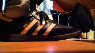 Oldschool-Style  :SAMBA von Adidas  ----  Soccershoes  Size 12     HD 16:9
