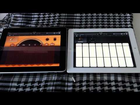 Apple iPad 2 vs iPad 1 Garage Band