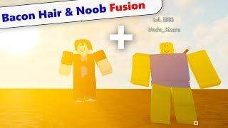 Roblox Noob and Bacon Hair Fusion