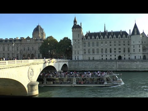 Walk around Paris France Trocadero Notre Dame Cathedral