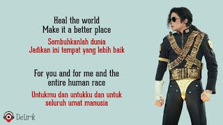 Gambar cover Heal The World - Michael Jackson (Lyrics video dan terjemahan)