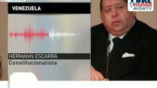 Abogado Hermann Escarrá: Asamblea Constituyente no prevé disolver ningún poder