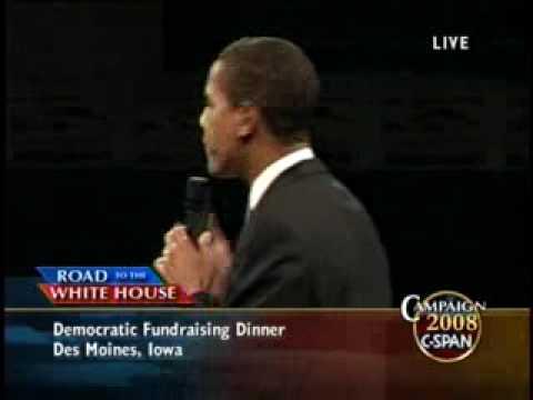 Barack Obama's Speech at the Jefferson Jackson Dinner