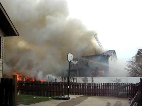 2 House on fire in Airdrie May 16 2009