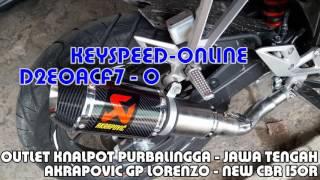 Knalpot New CBR 150R slip on Akrapovic Gp Lorenzo Carbon