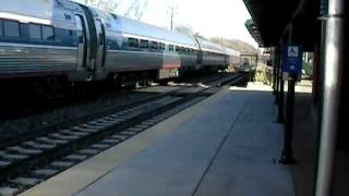 AMTRAK P42 #131 on Pennsylvanian Train #42 to Philadelphia 1-3-2012