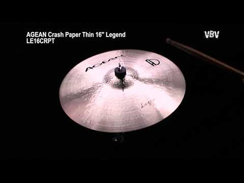 "Crash Paper Thin 16"" Legend Video"