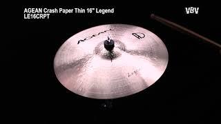 "16"" Crash Paper Thin Legend Video"