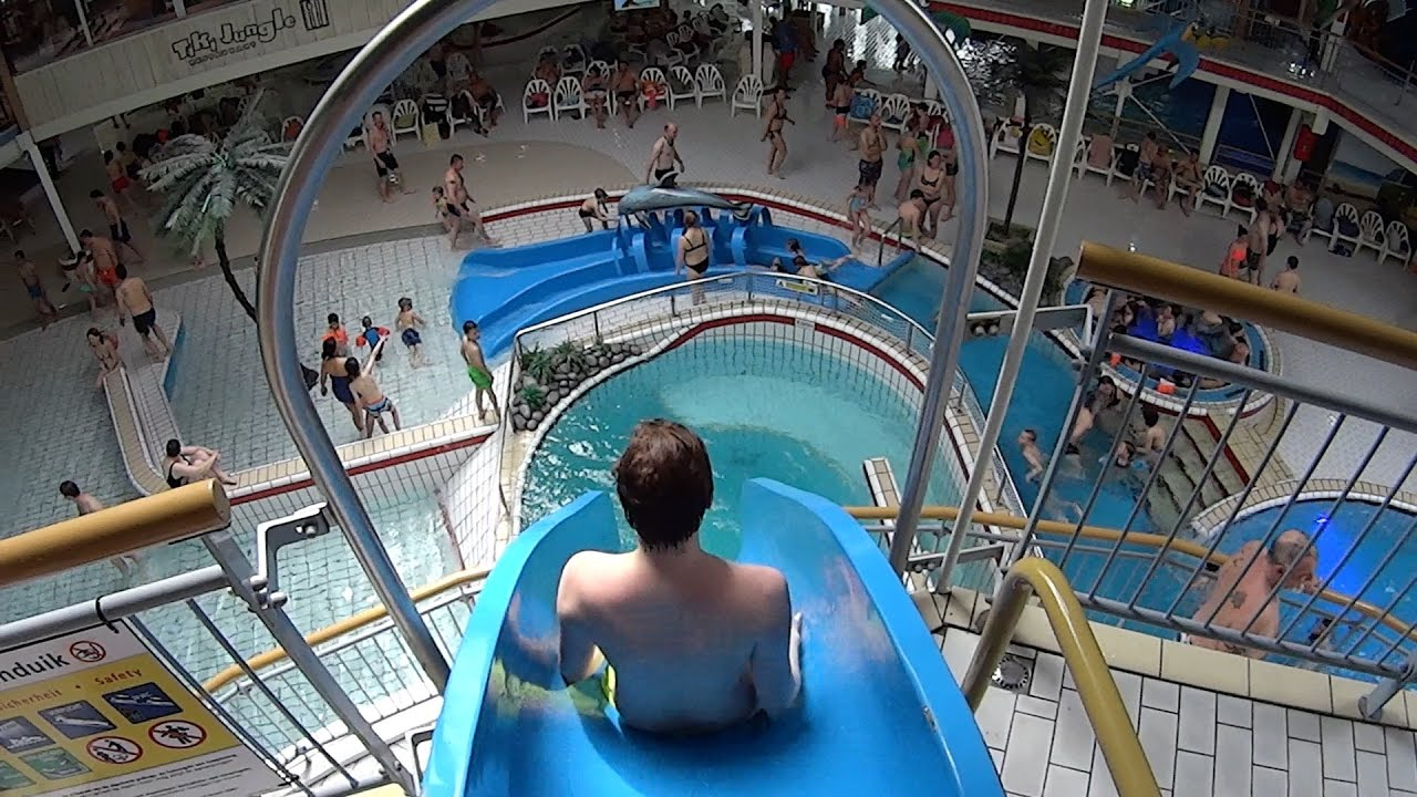 Aqua 60 Super Fun Drop Slide With Tuberides At Tikibad Duinrell