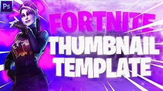 Adobe Photoshop Speed Art | *FREE* Fortnite YouTube Thumbnail Template
