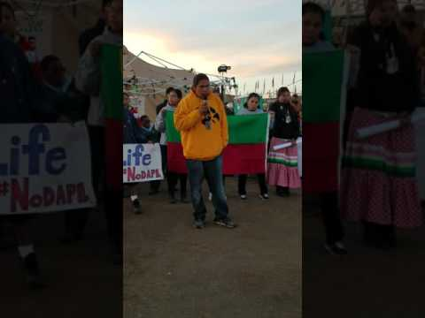 Meskwaki Nation & Iowa Pipeline Fighters are welcomed into Oceti Sakowin Camp