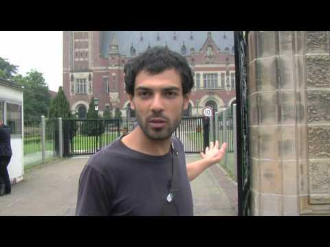Palestinian filmmaker visits the Peace Palace in The Hague