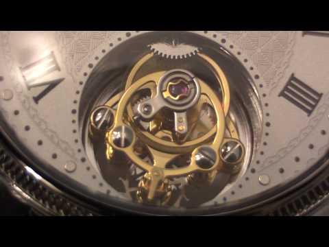 Close-up of tourbillon watch movement