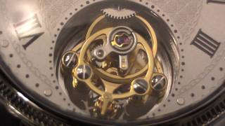 Close-up of tourbillon watch movement