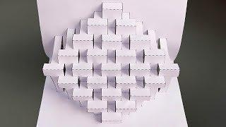 Super Easy Way To Make Kirigami Pop Up card  kirigami paper art Tutorial