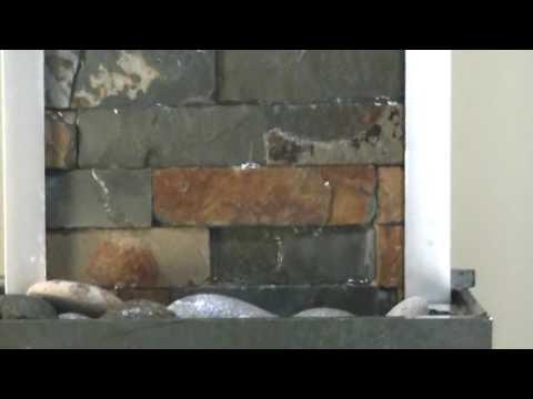Fuentes De Agua Cascadas Pared De Agua Piedra Luz Led Youtube - Fuentes-de-piedra-de-pared