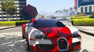 BUGATTI VEYRON NEAR THE BURJ KHALIFA|GTA 5 MOD