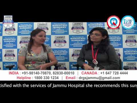 Canadian Houswife gets rid of her Diabetes & Obesity after MGB in India at Jammu Hospital