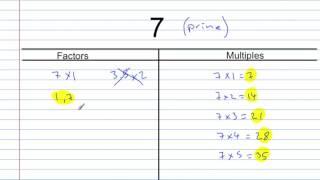 Factors, Multiples & Primes - Concept