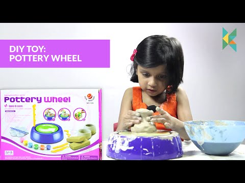 Imaginative Arts POTTERY WHEEL Game, Learn How to  Educational Toy (DIY Pottery Wheel) Kids Channel