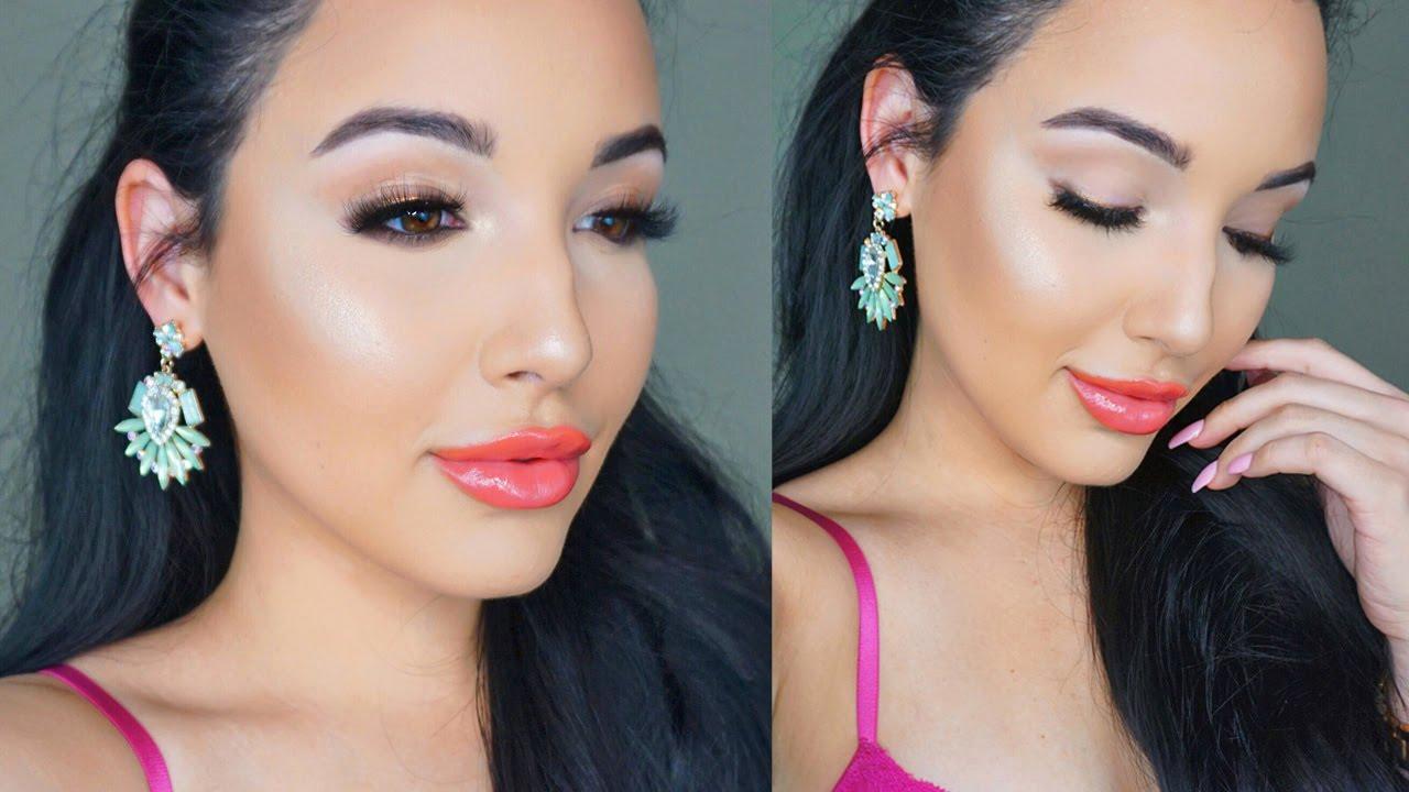 Glowing Spring Makeup Tutorial   Amanda Ensing - YouTube - photo #25