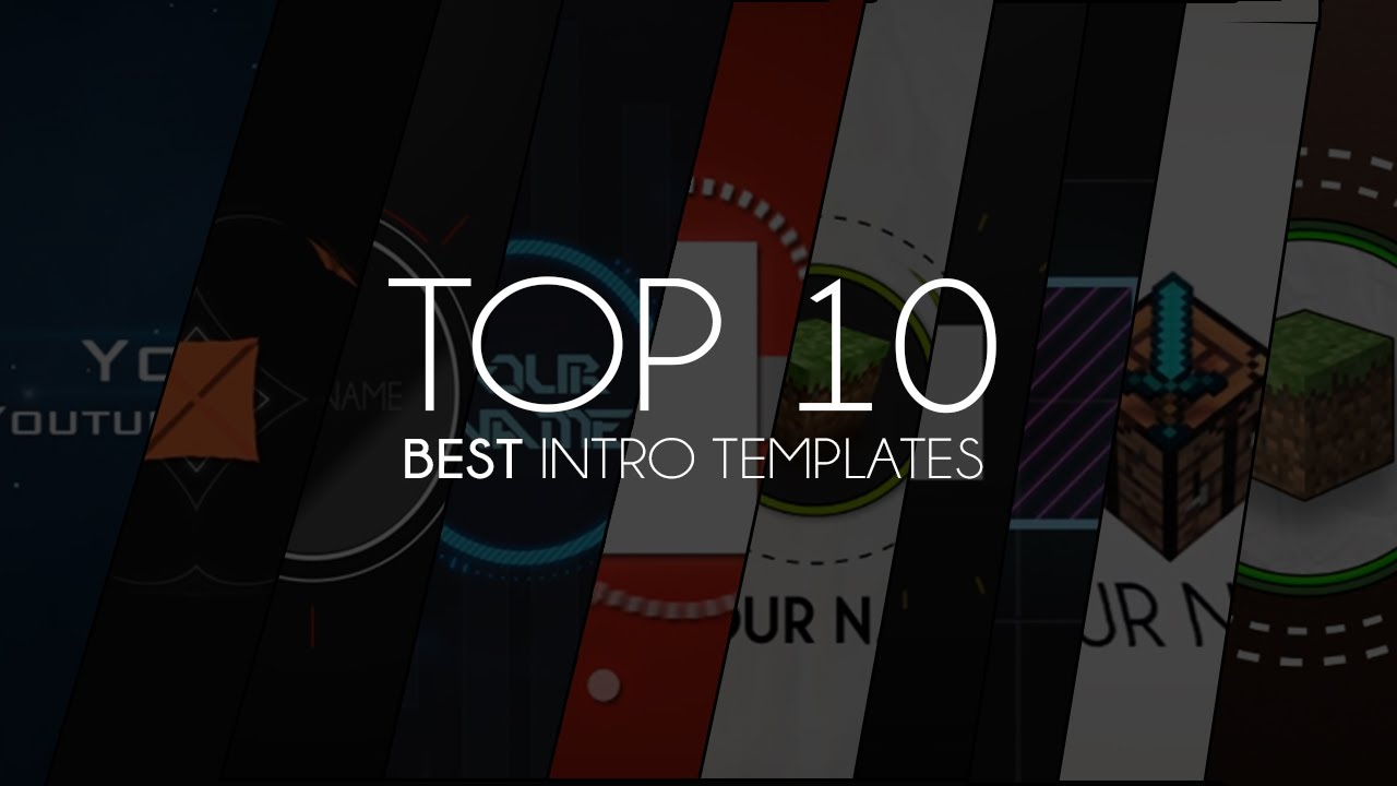 Top 10 Best Intro Templates of 2013 YouTube