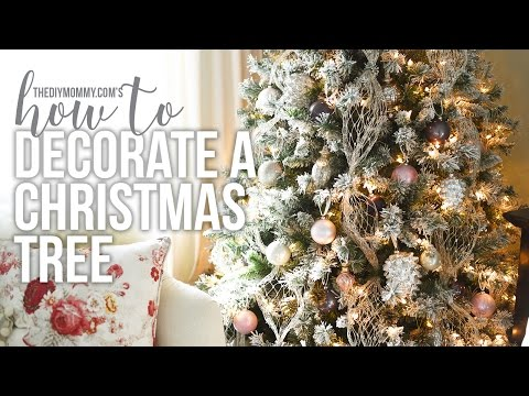 How to Decorate a Christmas Tree // CHRISTMAS DIY + DECOR CHALLENGE