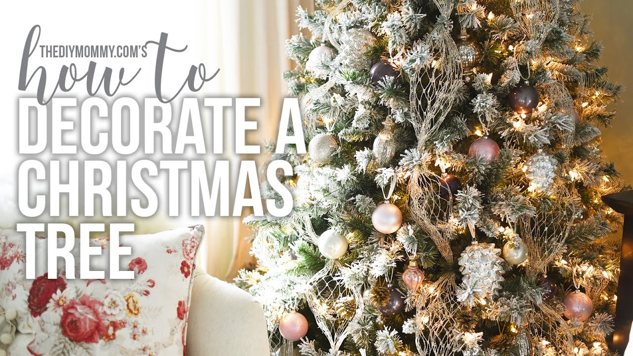 how to decorate a christmas tree christmas diy decor challenge youtube