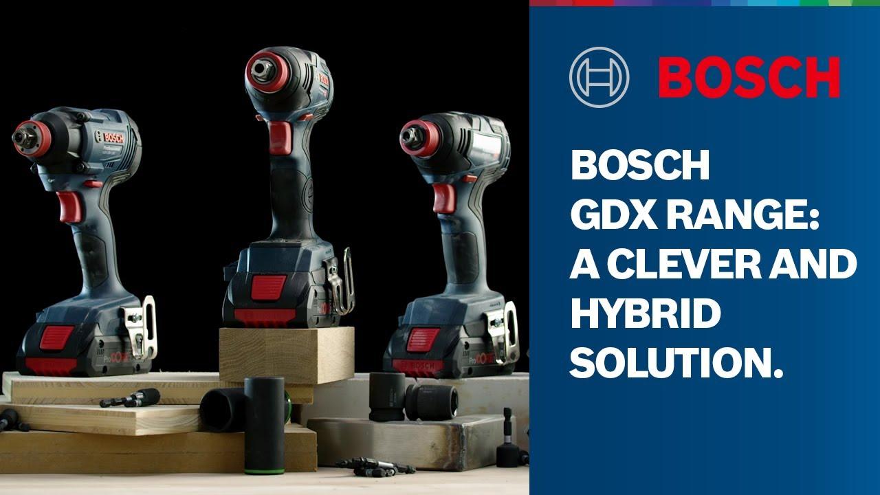 Bosch 06019G4204 Professional GDX 18V-200 C Avvitatore a Massa Battente Senza Batteria e Caricatore 18 V Blu