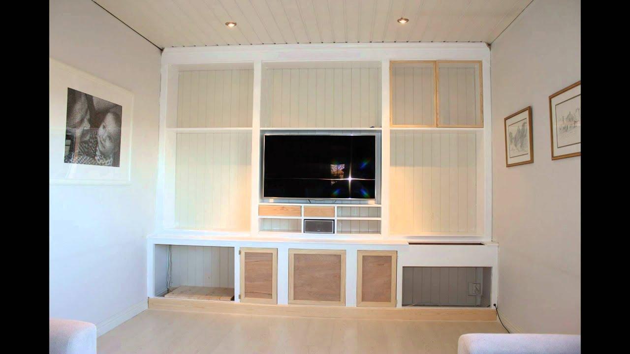 bygge plassbygd hylle/ custom built bookcase - YouTube