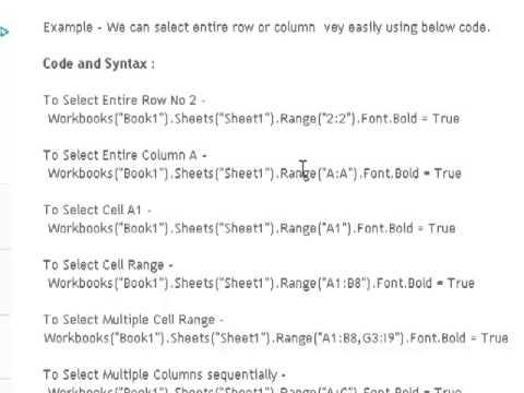 hqdefault Vba Worksheets Select Range on