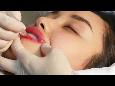 Lip permanent make up