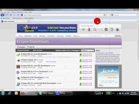 How to Download Eclipse Programming Software - YouTube