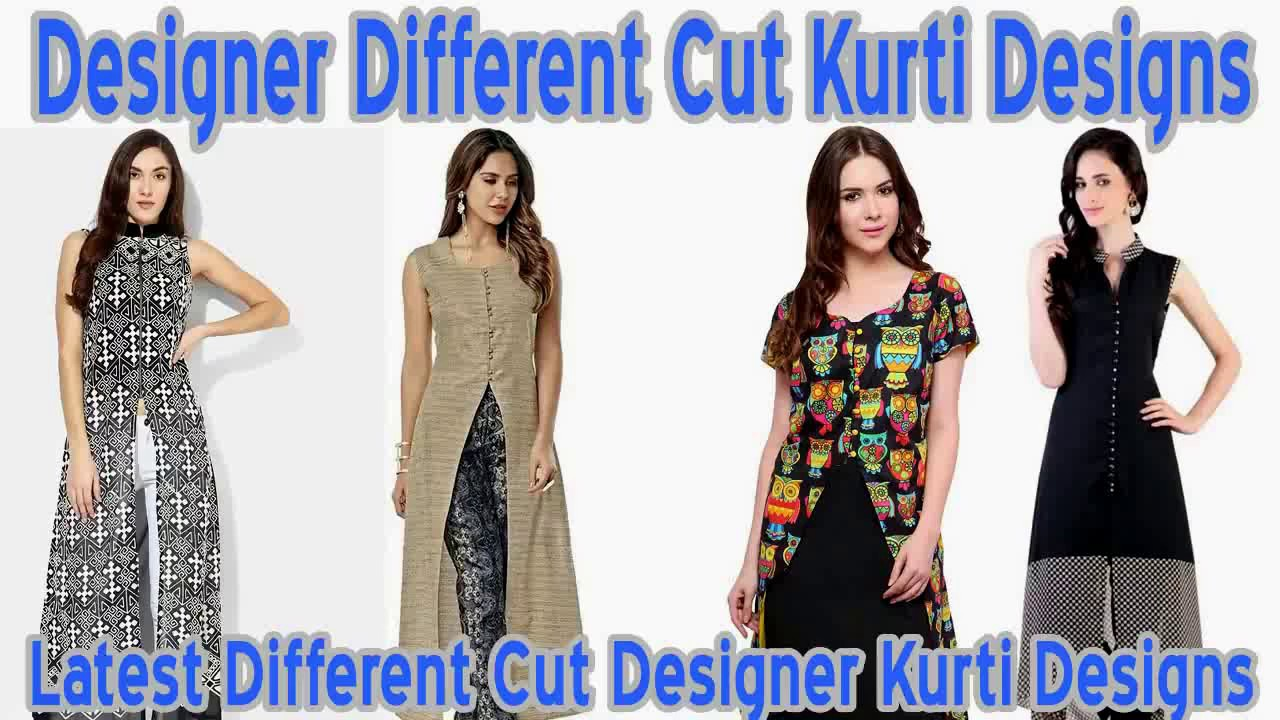 217d48dfd5a7c Latest Different Cut Designer Kurti Designs - YouTube