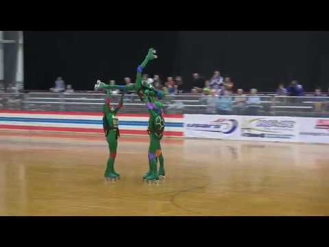 2018 NATIONAL CHAMPION QUARTET- Ninja Turtles (Artistic Roller Skating)