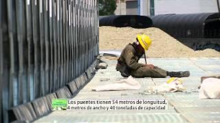 Reportero Parques del Río Medellín - Así van los puentes militares