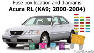 [NRIO_4796]   Fuse box location and diagrams: Acura RL (KA9; 2000-2004) - YouTube | Fuse Box 2000 Acura Rl |  | YouTube