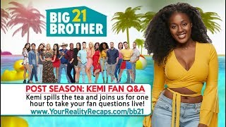 #BB21 Live 1 Hour Fan Q&A With Kemi Faknule!