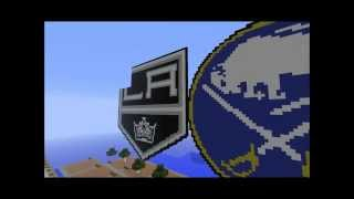 30 NHL Logos created on a Minecraft Server