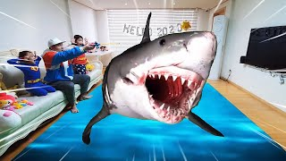 Shark appeared! have fun fishing with fantastic family | Nastya,Diana,Ryan,Shfa