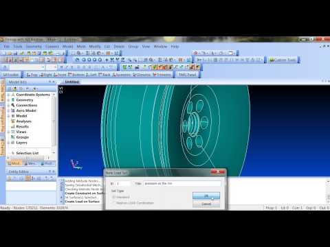 Topology Optimization of An alloy Wheel in FEMAP NX Nastran