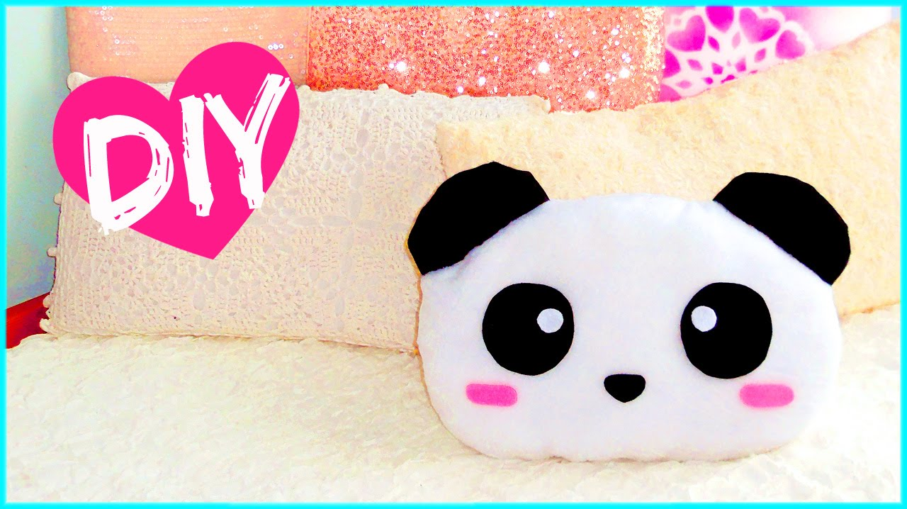 DIY ROOM DECOR! Cute panda pillow (Sew/no sew) | Lovely gift idea ...