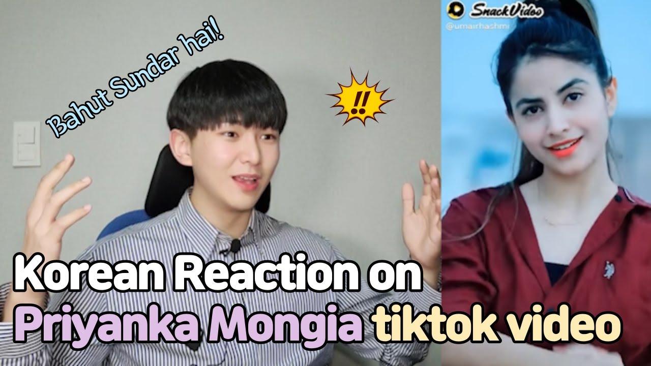 Priyanka Mongia Tik Tok Reaction by Korean l I Crushed on her 💜 कोरियाई प्रतिक्रिया
