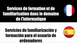 [Vocabulaire] [Français-Espagnol] Services de formation